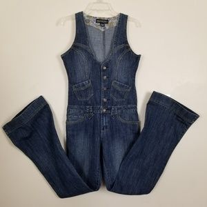 Denim Flare Leg Jumpsuit Imperial Star Vintage